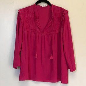 Sezane silk pink blouse